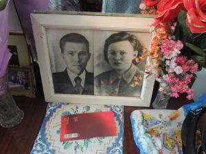 На фото: Федор Илларионович с супругой (1946 год)