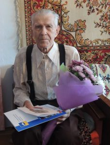 На фото: ветеран Великой Отечественной войны – Горбунов Федор Илларионович