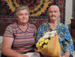 На фото: ветеран Великой Отечественной войны – Калита Елена Михайловна с дочерью