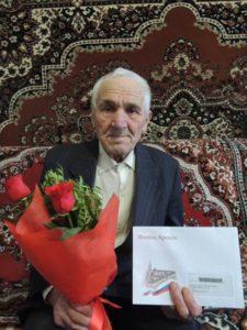 На фото: ветеран Великой Отечественной войны – Тронягин Александр Макарович