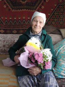 На фото: ветеран Великой Отечественной войны – Бобошина Глафира Степановна.