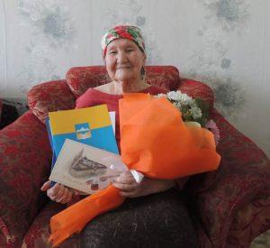 На снимке: Ветеран Великой Отечественной войны Миниахметова Магафира
