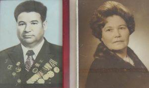 На фото: ветераны Великой Отечественной войны — Рачева Любовь Павловна с мужем Михаилом Ивановичем