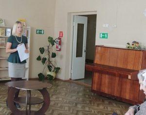 На фото выступление начальника отдела ОНДВ