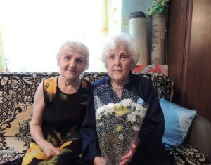 Мария Даниловна(справа) с дочерью